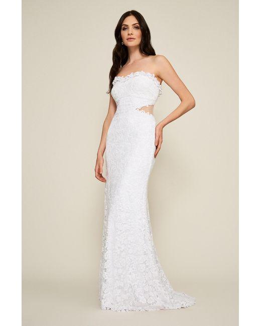 Lyst - Tadashi Shoji Himara Strapless Lace Gown in White