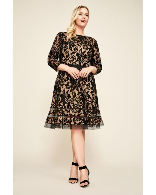 e12dd69c51f Tadashi Shoji - Black Kennedy Embroidered Lace Dress - Plus Size - Lyst ...