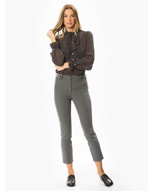 Roman Gray Slim Fit Stretchy Grey Pants