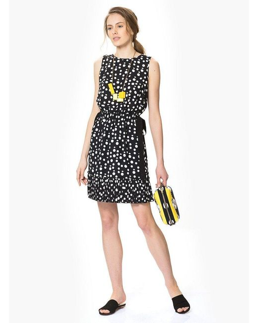 Roman Black Polka Dot Dress