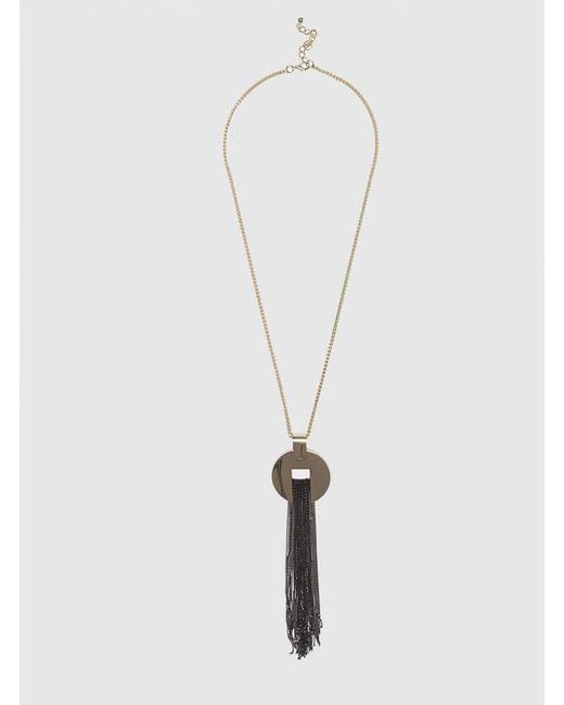 Roman - Metallic Long Tassel Necklace In Gold - Lyst