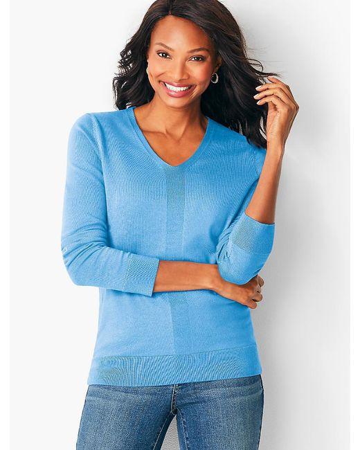 Talbots - Blue Modern V-neck Sweater - Lyst