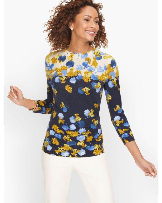 Talbots Blue Cashmere Audrey Sweater