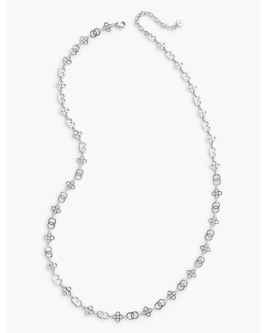 Talbots - Metallic Trefoil & Rings Necklace - Lyst