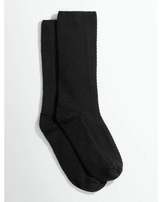 Talbots - Black Chevron Trouser Socks - Lyst