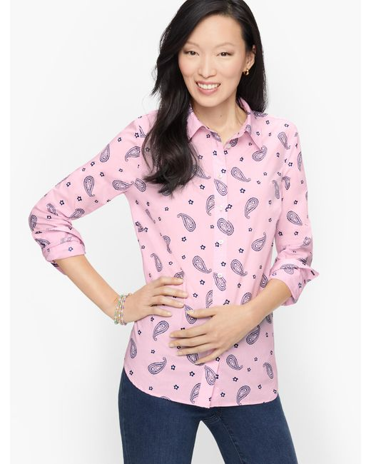 Talbots Pink Classic Cotton Shirt