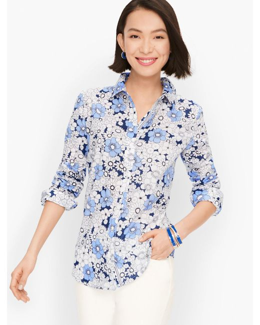 Talbots Blue Classic Cotton Shirt