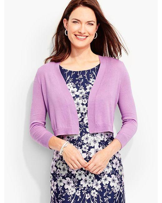 Talbots | Purple Classic Dress Shrug | Lyst