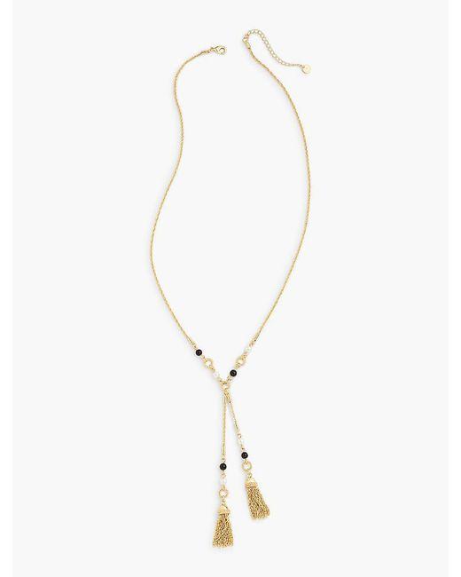 Talbots - Metallic Double-tassel Necklace - Lyst