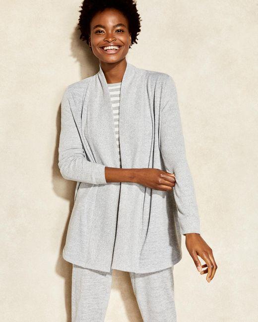 Talbots Gray Marled Cardigan Sweater