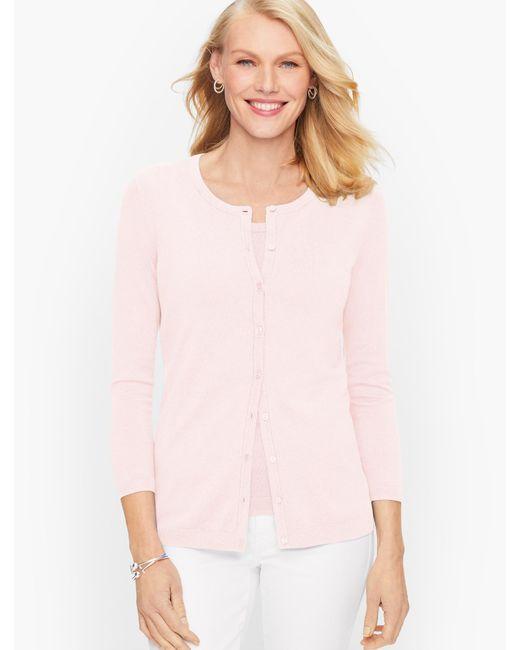 Talbots Pink Charming Cardigan Sweater