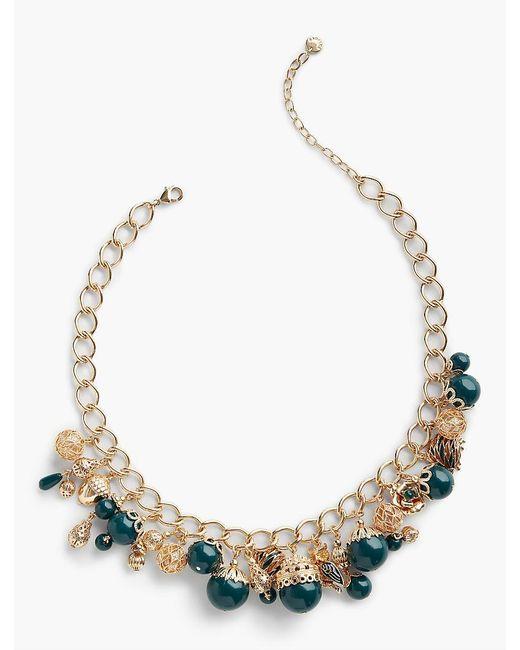 Talbots | Metallic Filigree Charm Necklace | Lyst