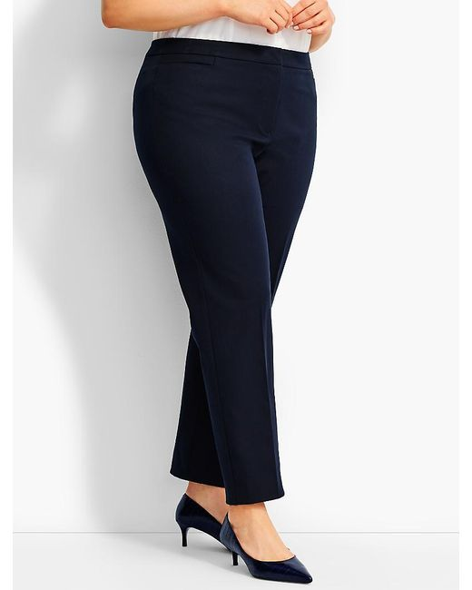 Talbots | Blue Woman Exclusive Hampshire Bi-stretch Ankle Pant - Curvy | Lyst