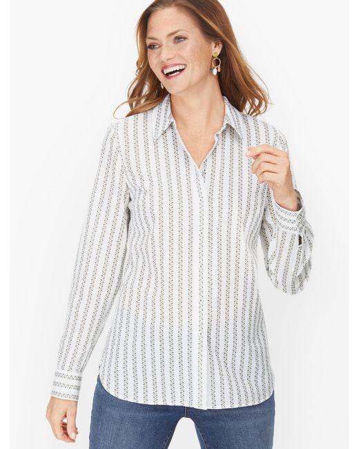 Talbots White Classic Cotton Shirt