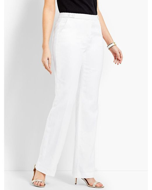 Talbots - White Windsor Wide-leg Pant - Curvy Fit/fully Lined - Lyst