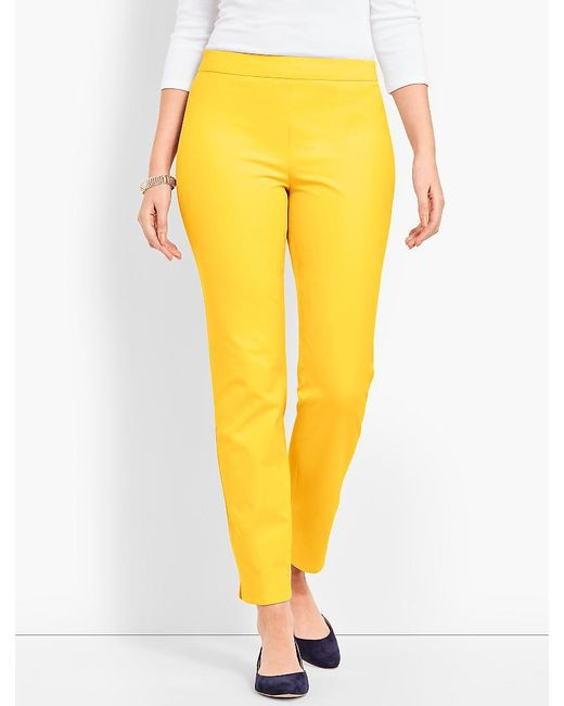Talbots - Yellow Chatham Ankle - Curvy Fit - Lyst