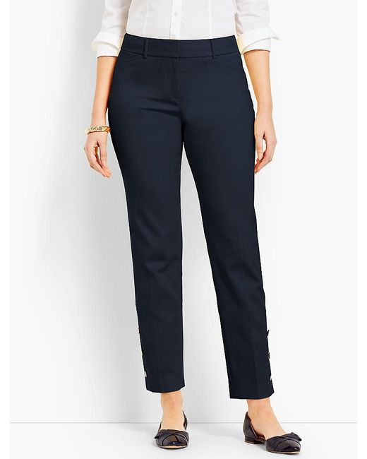 Talbots - Blue Hampshire Ankle Pant - Curvy Fit/button-cuff - Lyst