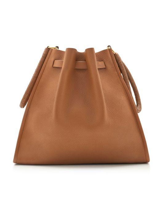 868c1702f7 ... Tamara Mellon - Brown Kiss Bag - Vitello - Lyst ...