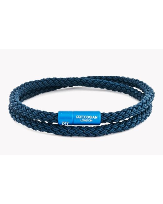 Tateossian - Blue Notting Hill Rubber Cable Bracelet for Men - Lyst