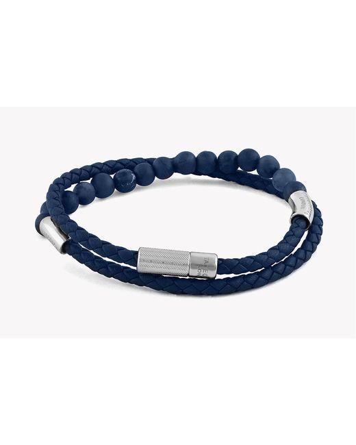 Tateossian - Blue Havana Silver Bracelet for Men - Lyst