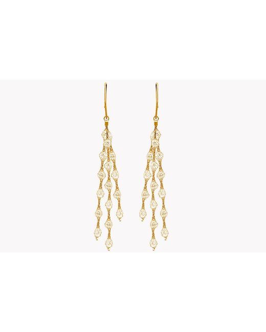 Tateossian | Metallic Liquid Diamonds Yellow Gold Plated Silver Earrings | Lyst