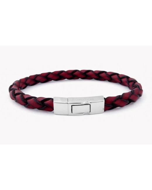 Tateossian | Red Single Wrap Click Scoubidou for Men | Lyst