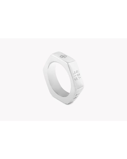 Tateossian | Metallic Nut & Bolt Silver Ring for Men | Lyst
