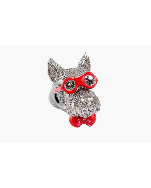 Tateossian | Red Scottish Terrier Silver Pin | Lyst
