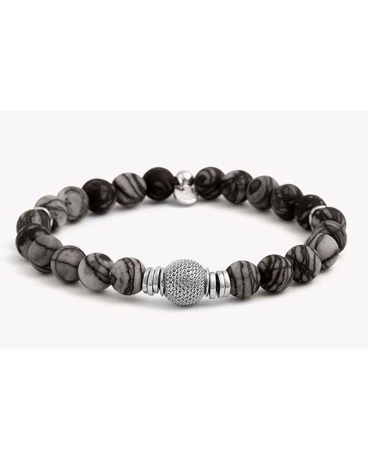 Tateossian - Gray Stonehenge Silver Bracelet for Men - Lyst