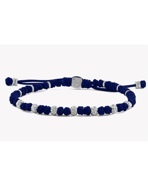 Tateossian - Blue Macramé Knots Silver Bracelet for Men - Lyst