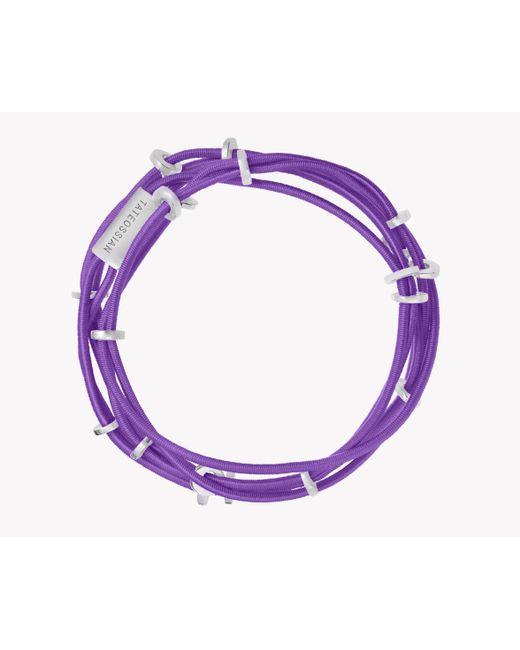 Tateossian | Purple Capri Silver Friendship Bracelet | Lyst