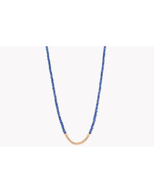 Tateossian - Metallic Bamboo Burmese Sapphire 18k Gold Necklace for Men - Lyst