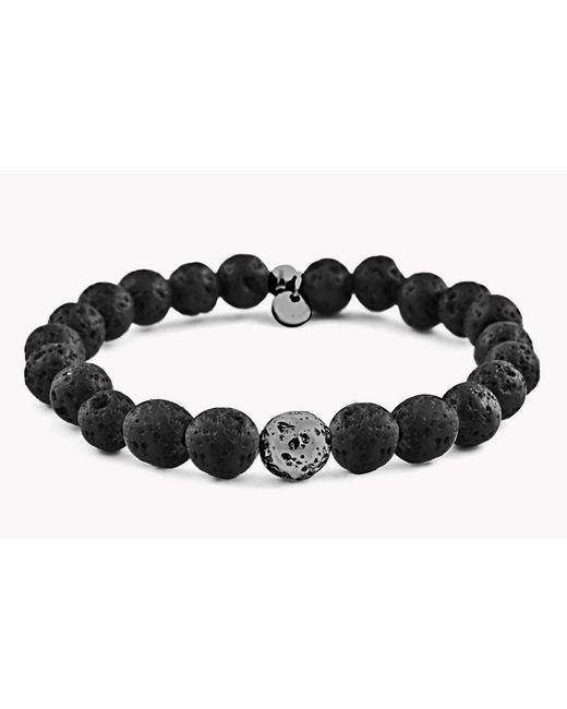 Tateossian | Black Asteroid Matte Beaded Bracelet for Men | Lyst