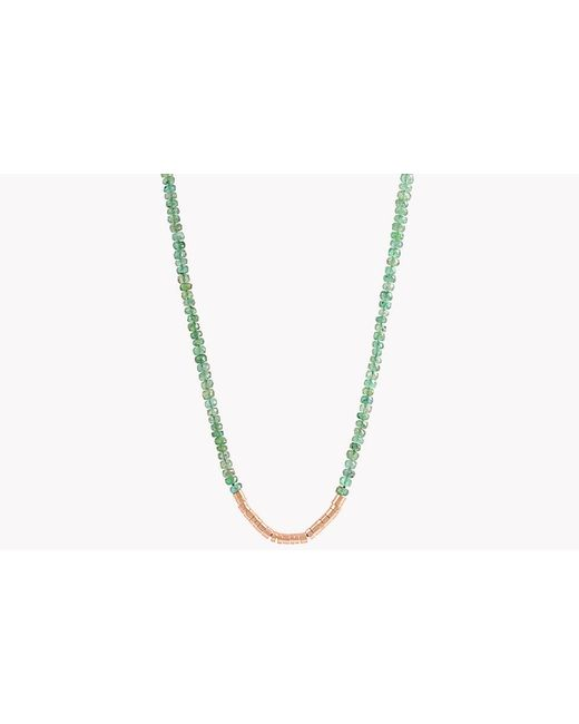 Tateossian - Metallic Bamboo Emerald 18k Gold Necklace - Lyst