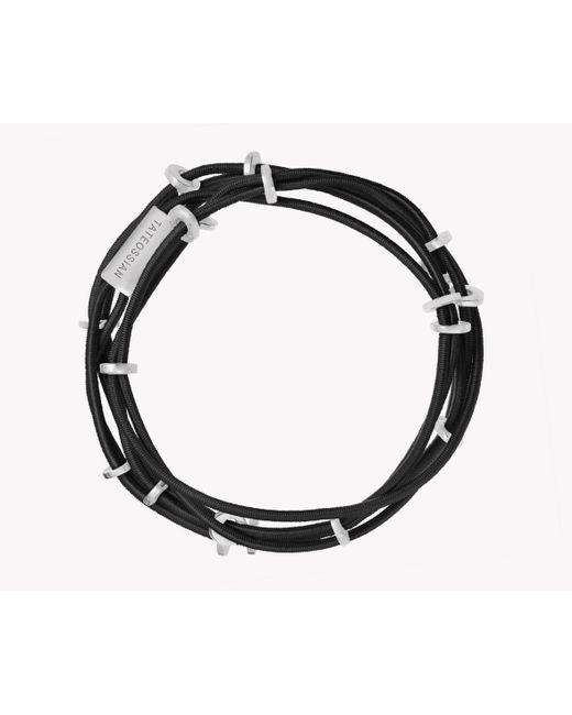 Tateossian - Black Capri Silver Friendship Bracelet - Lyst