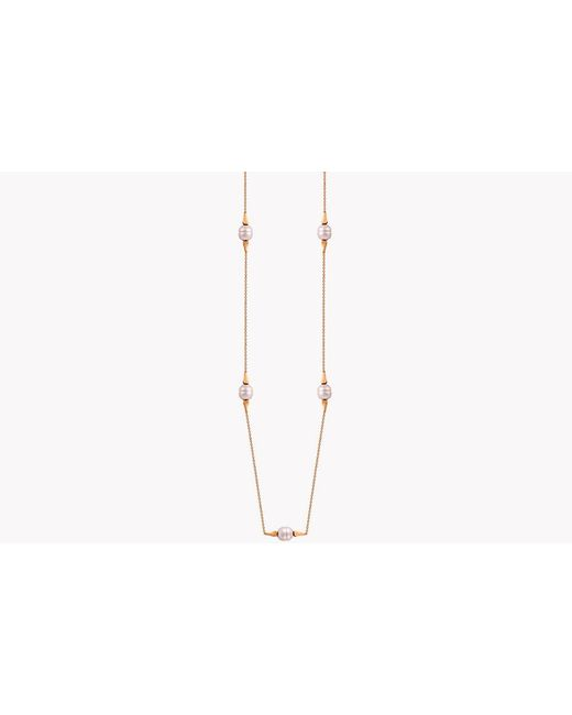 Tateossian - Metallic 18k Rose Gold South Sea Baroque Pearl Drop Necklace With 5 Pearls for Men - Lyst
