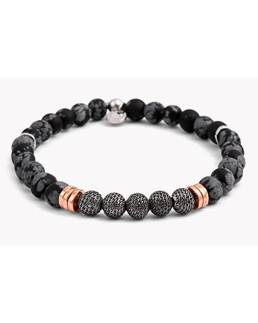 Tateossian - Black Stonehenge Silver Bracelet - Small Beads for Men - Lyst
