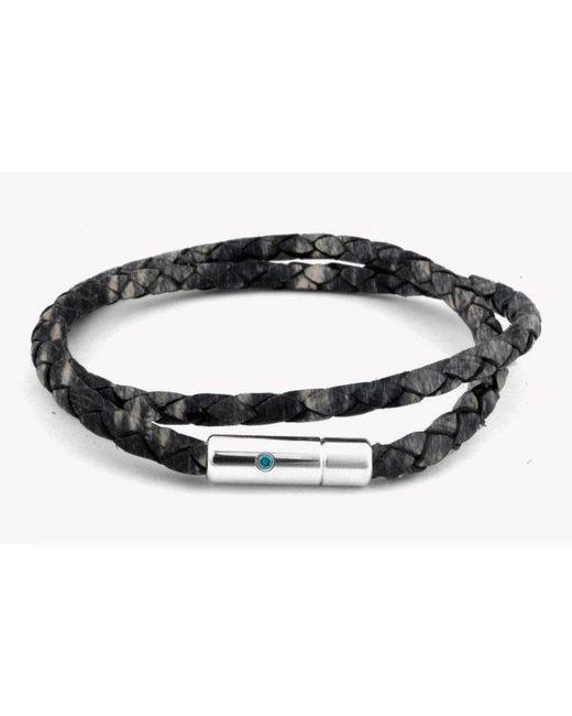 Tateossian | Gray Pop Print Scoubidou Silver Bracelet In Grey for Men | Lyst