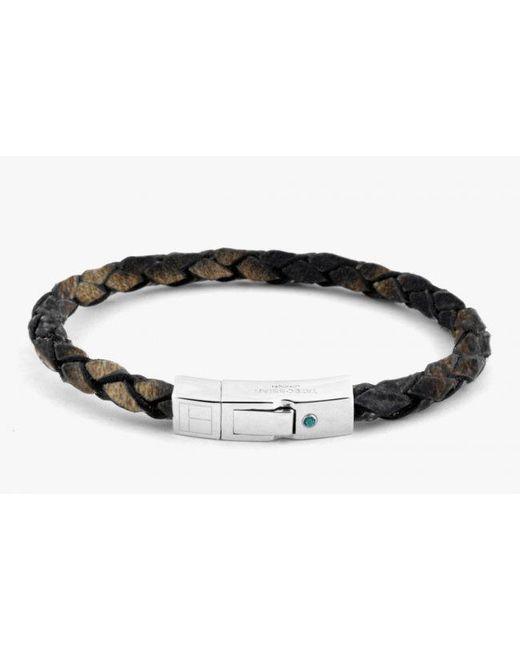 Tateossian | Amazonia Scoubidou Silver Bracelet In Brown for Men | Lyst