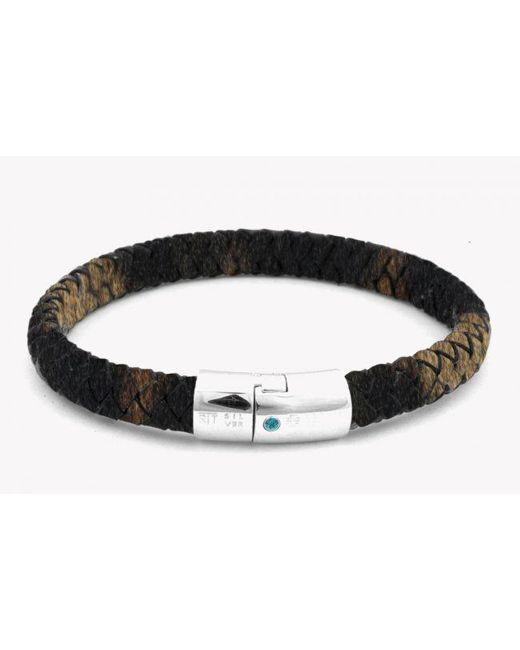 Tateossian | Amazonia Cobra Silver Bracelet In Brown for Men | Lyst
