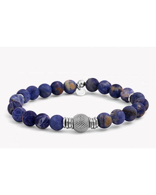 Tateossian - Blue Men's Sodalite & Mesh Bracelet for Men - Lyst