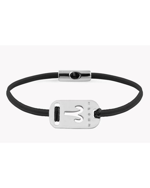 Tateossian | Black Zodiac Silver Aries Bracelet | Lyst