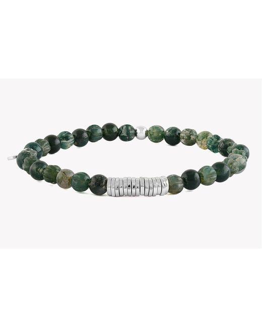 Tateossian - Green Disc Round Beaded Bracelet for Men - Lyst