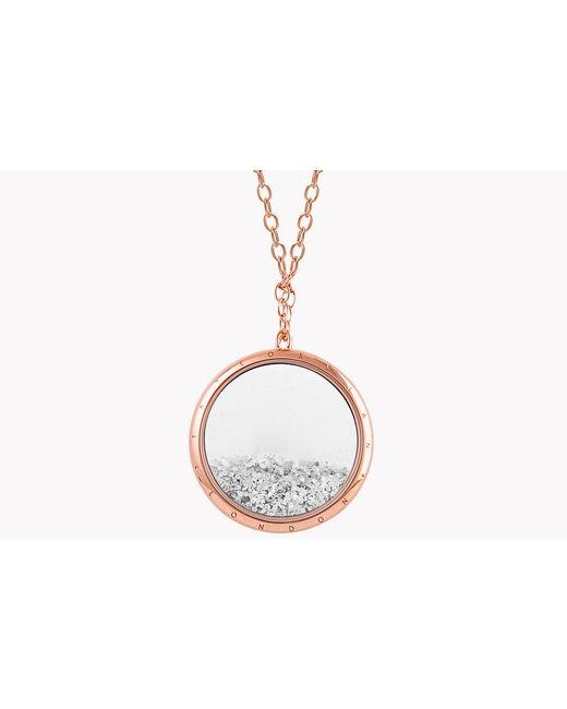 Tateossian - Metallic Diamond Dust Silver Necklace With Rose Gold Finish for Men - Lyst