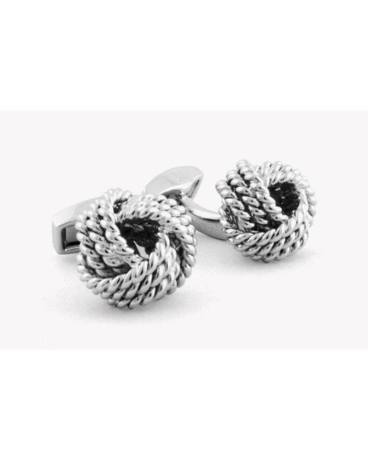 Tateossian - Metallic Cable Knot Cufflinks for Men - Lyst