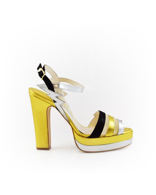 Terry De Havilland | Metallic Lightning Coco Gold/silver/black | Lyst