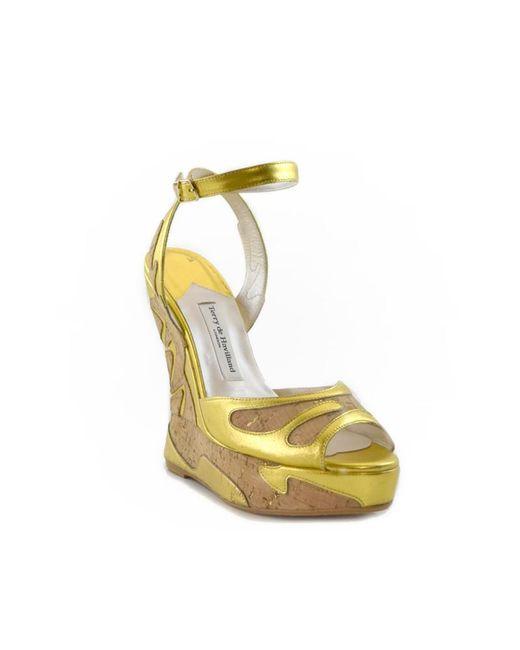 Terry De Havilland - Metallic Margaux Swirl Cork/gold - Lyst