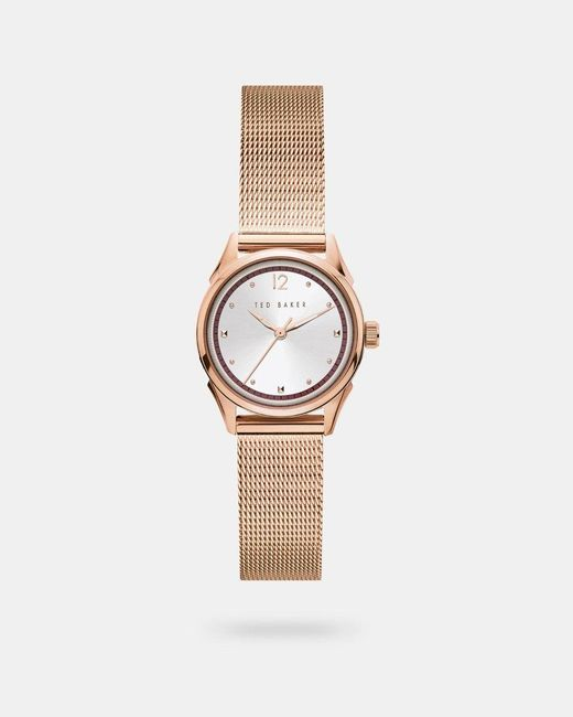 Ted Baker Multicolor Milanese Mesh Band Watch