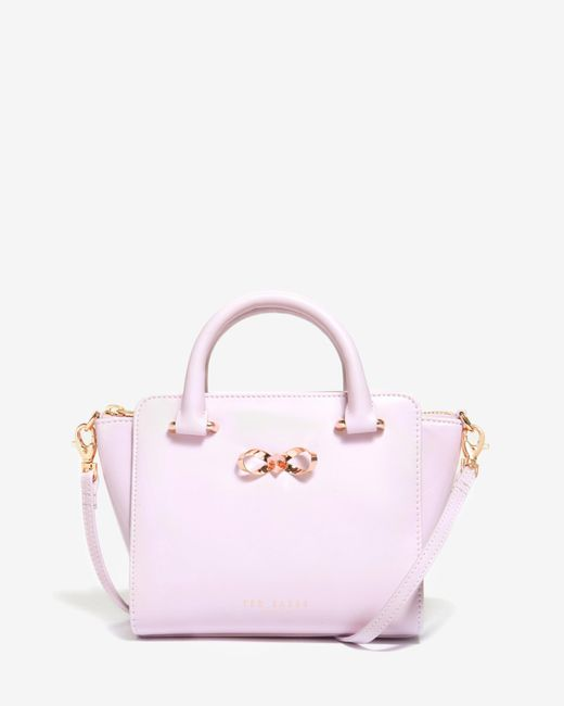 Ted Baker | Pink Mini Patent Leather Tote Bag | Lyst