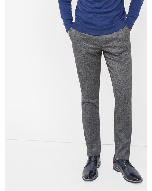 Ted Baker   Gray Illitro Textured Wool Trousers for Men   Lyst